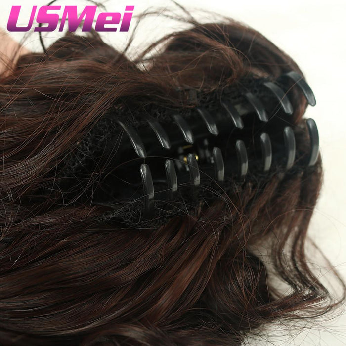 Usmei 32 Inches Long Curly Claw Clip Ponytail Fake Hair Extensions