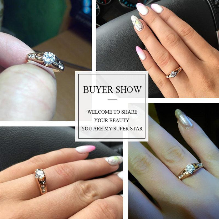 Which Hand Wedding Ring Female.Ustar Top Quality Austria Crystals Wedding Rings For Women Rose Gold Color Engagement Rings Female