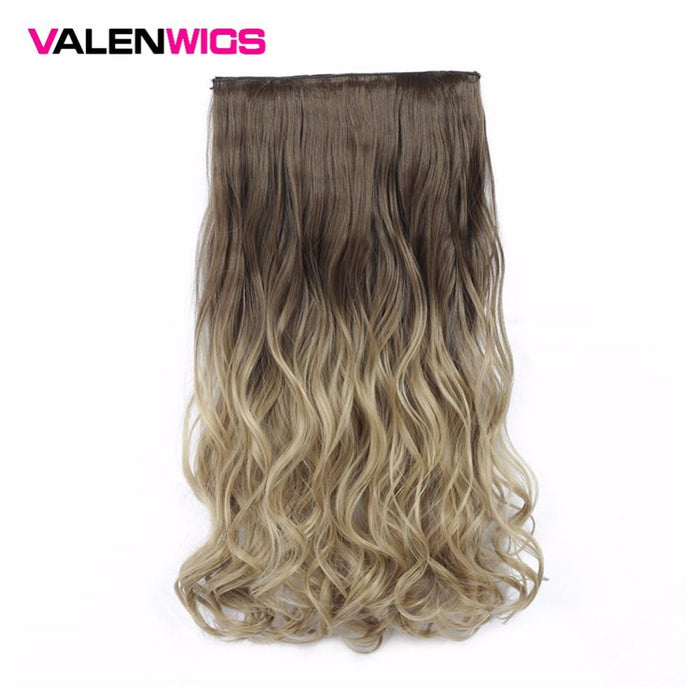 Valen Wigs Synthetic Hair Pieces Clip In Hair Extensions One Piece