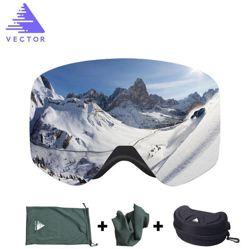 Vector Brand Ski Goggles With Case Double Lens Uv400 Anti-Fog Ski Snow Glasses Skiing Men Women-Shooting-VECTOR official store-Red-EpicWorldStore.com