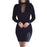 Vestidos Knitting Women Dresses Zipper O-Neck Stylish Knitted Dress Long Sleeve Bodycon Sheath-Dresses-iFashion (Hong Kong) Limited-Black-S-EpicWorldStore.com