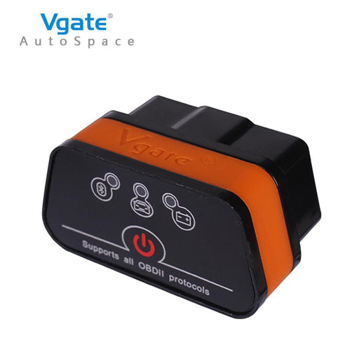 Vgate Icar2 Elm 327 V2.1 Obd2 Bluetooth Adapter Auto Obd2 Scanner Car Code Reader Diagnostic Scanner-Car Repair Tools-AutoSpace Store-Black and orange-EpicWorldStore.com