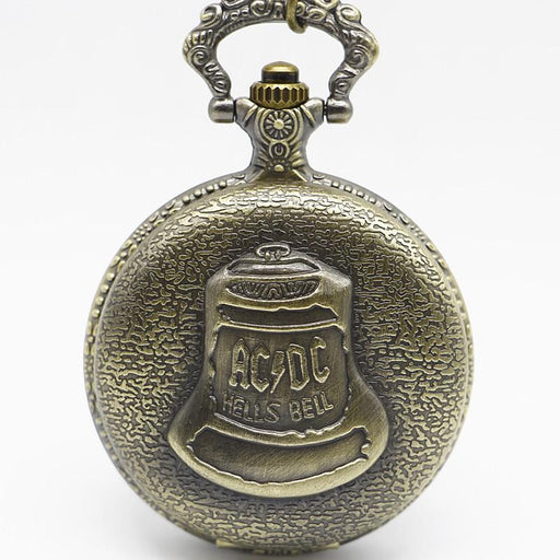 Vintage Acdc Hells Bell Theme Quartz Pocket Watch Necklace Pendant For Men Children Gifts-Pocket & Fob Watches-SHUHANG WATCH Store-EpicWorldStore.com