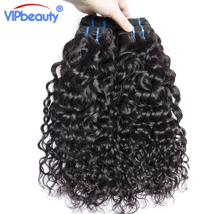 Vip Beauty Indian Water Wave Weave Human Hair Bundles Non Remy Hair