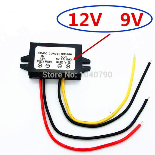 Voltage Regulator 12V To 9V Car Power Supply Converter Dc Voltage Stabilizer Dc - Dc Voltage-Industrial Computer & Accessories-BT Computer digital accessories Store-EpicWorldStore.com