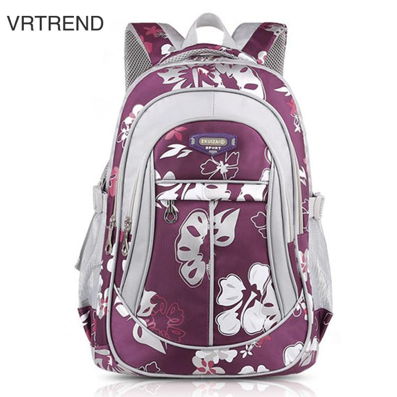 Vrtrend Junior High School Backpacks For Girls Primary Kids Bags High Quality Large Size Capacity