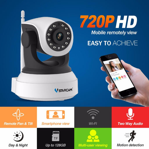 Vstarcam Hd Ip Camera Wireless Wifi Wi-Fi Video Surveillance Night Security Camera Network Indoor-Vstarcam Official Store-EU Plug-EpicWorldStore.com