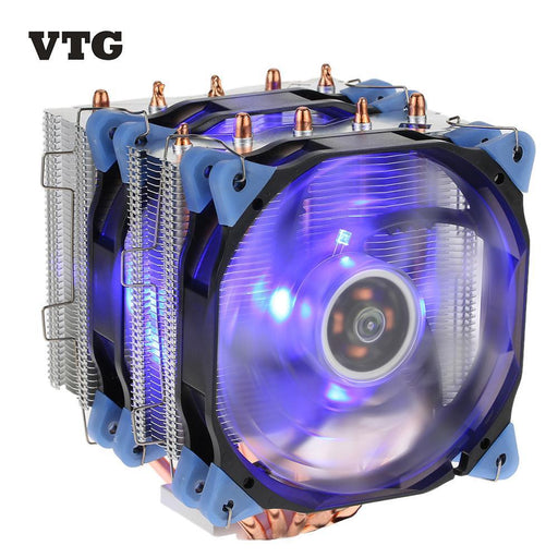 Vtg 5 Heatpipe Radiator 4Pin Cpu Cooler Fan Cooling 5 Direct Contact Heatpipes With 120Mm Fan-Computer Components-iTechnology Life-With 1pc case cooler-EpicWorldStore.com