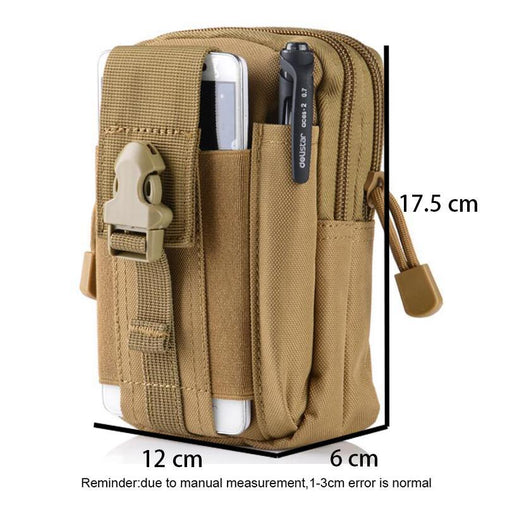Waist Bag For Men Multifunction Waterproof Military Belt Waist Bags Mobile Phone Wallet Travel Pouch-Bella's Bag Shop-Black-EpicWorldStore.com