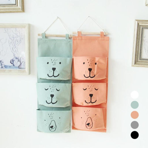 Wall Hanging Storage Bags Organizer Linen Closet Children Room Organizer Pouch For Toys Books-Home Storage & Organization-LM Lifestyle Store-Black-EpicWorldStore.com