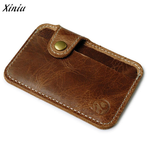 Wallet Men Luxury Brand Credit Card Wallets Brown Slim Mini Wallet Id Case Purse Bag Pouch-Coin Purses & Holders-Ladybabag Store-EpicWorldStore.com