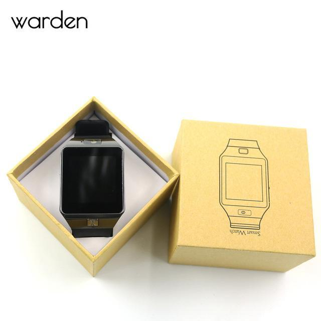 Warden Electronic Men Smart Watch Led Sport Life Waterproof Pedometer Smartwatch Bluetooth Digital-Lover's Watches-The Warden Official Store-Black-EpicWorldStore.com