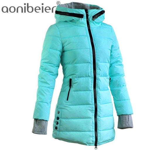 Warm Winter Jackets Women Down Cotton Parkas Casual Hooded Long Coat Thickening Parka-Jackets & Coats-SheBlingBling Store-Black-M-EpicWorldStore.com