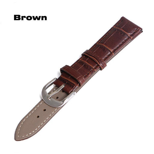 Watch Band Genuine Leather Straps 12Mm 18Mm 20Mm 14Mm 16Mm 19Mm 22Mm Watch Accessories Men High-Watch Accessories-CURREN WATCH STORE-Black-12mm-EpicWorldStore.com