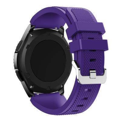 Watchbands Black 22Mm Luxury Brand New Sports Silicone Bracelet Strap Band For Samsung-Watch Accessories-Good Watches Store-Purple-EpicWorldStore.com