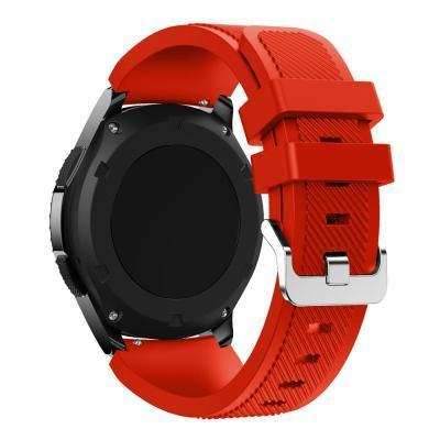 Watchbands Black 22Mm Luxury Brand New Sports Silicone Bracelet Strap Band For Samsung-Watch Accessories-Good Watches Store-Red-EpicWorldStore.com