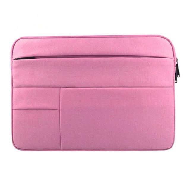Waterproof Laptop Bag Case Solid Computer Cover For Dell Hp Acer Lenovo For Macbook 11.6 12 13 14 15-Laptop Accessories-PC world Store-rose pink-12inch-EpicWorldStore.com