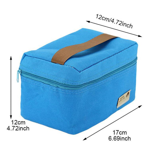 Waterproof Nylon Practical Portable Ice Cooler Lunch Bag Leisure Picnic Packet Bento Box Food-Functional Bags-RUIXIN Store-Blue-EpicWorldStore.com