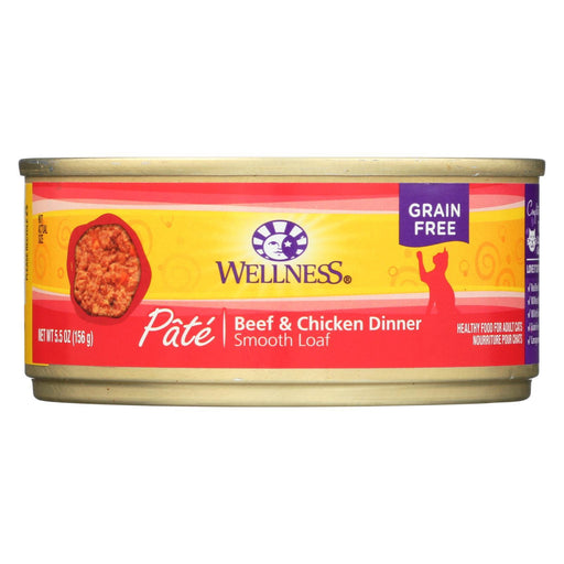 Wellness Pet Products Cat Food - Beef And Chicken - Case Of 24 - 5.5 Oz.-Eco-Friendly Home & Grocery-Wellness Pet Products-EpicWorldStore.com