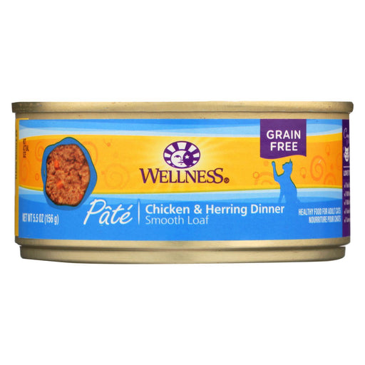 Wellness Pet Products Cat Food - Chicken And Herring - Case Of 24 - 5.5 Oz.-Eco-Friendly Home & Grocery-Wellness Pet Products-EpicWorldStore.com