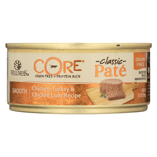 Wellness Pet Products Cat Food - Core Chicken - Turkey And Chicken Liver - Case Of 24 - 5.5 Oz.-Eco-Friendly Home & Grocery-Wellness Pet Products-EpicWorldStore.com