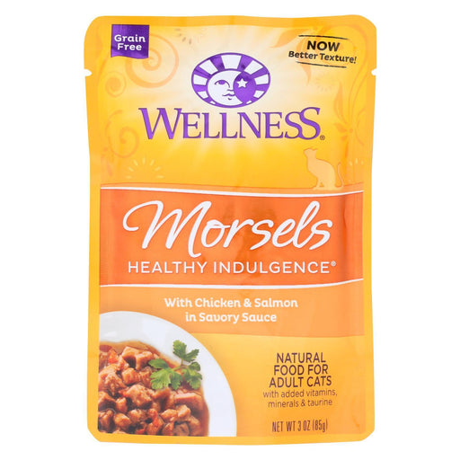 Wellness Pet Products Cat Food - Morsels With Chicken And Salmon In Savory Sauce - Case Of 24 - 3-Eco-Friendly Home & Grocery-Wellness Pet Products-EpicWorldStore.com