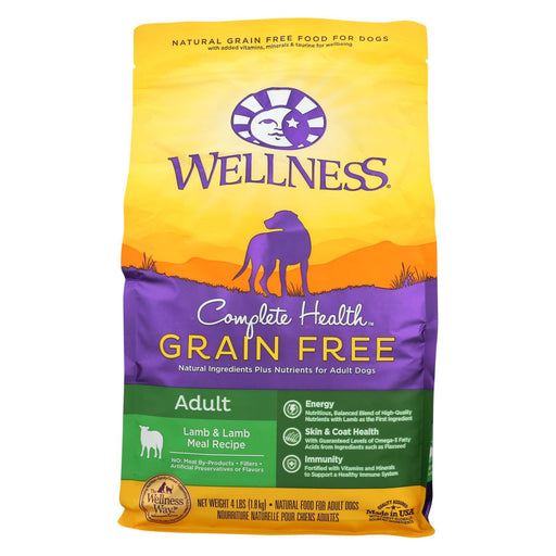Wellness Pet Products Dog Food - Grain Free - Lamb Recipe - Case Of 6 - 4 Lb.-Eco-Friendly Home & Grocery-Wellness Pet Products-EpicWorldStore.com