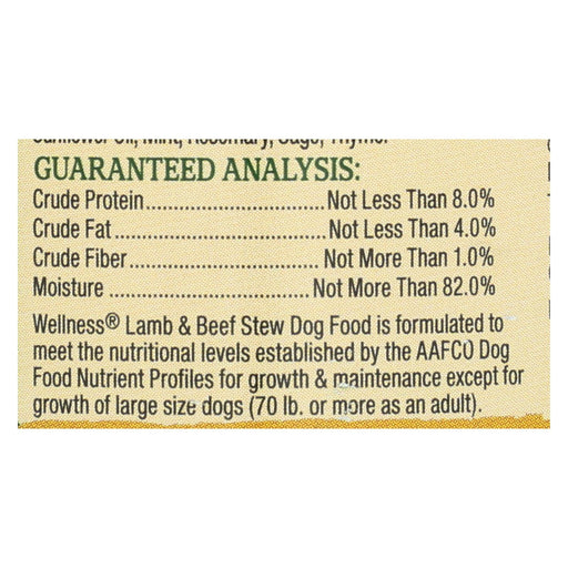 Wellness Pet Products Dog Food - Lamb And Beef With Brown Rice And Apple - Case Of 12 - 12.5 Oz.-Eco-Friendly Home & Grocery-Wellness Pet Products-EpicWorldStore.com