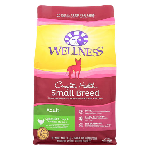 Wellness Pet Products Dog Food - Turkey And Oatmeal Recipe - Case Of 6 - 4 Lb.-Eco-Friendly Home & Grocery-Wellness Pet Products-EpicWorldStore.com