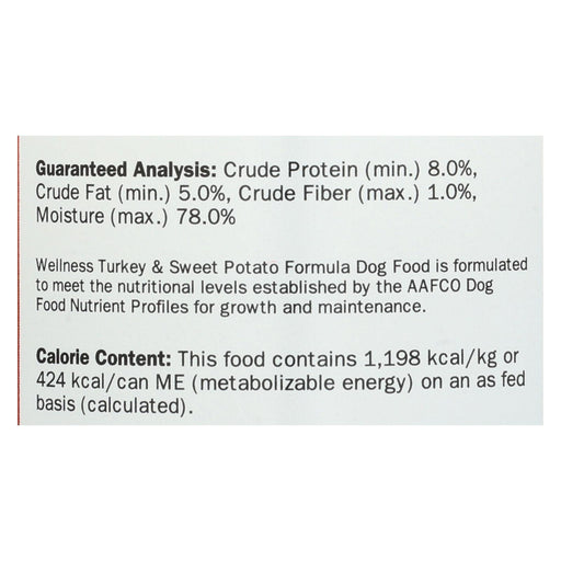 Wellness Pet Products Dog Food - Turkey And Sweet Potato Recipe - Case Of 12 - 12.5 Oz.-Eco-Friendly Home & Grocery-Wellness Pet Products-EpicWorldStore.com