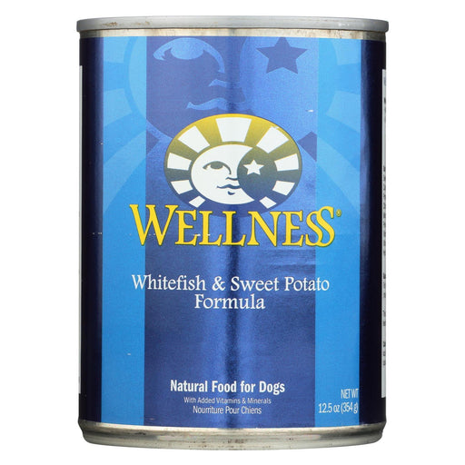 Wellness Pet Products Dog Food - Whitefish And Sweet Potato Recipe - Case Of 12 - 12.5 Oz.-Eco-Friendly Home & Grocery-Wellness Pet Products-EpicWorldStore.com