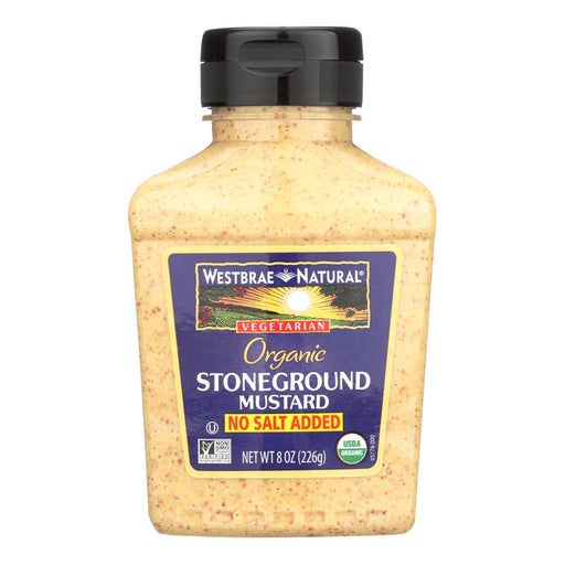 Westbrae No Salt Added Stoneground Mustard - Case Of 12 - 8 Oz-Eco-Friendly Home & Grocery-Westbrae Natural-EpicWorldStore.com