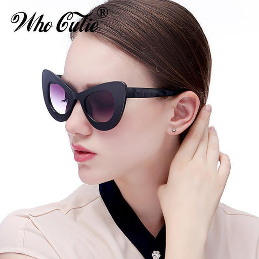 Who Cutie Big Retro 60S Cat Eye Butterfly Sunglasses Women Oversized Cateye Sexy Sun Glasses-Sunglasses-yooske Official Store-C1-EpicWorldStore.com