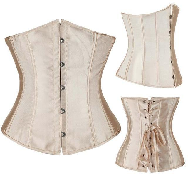 Wholesale Women Stylish Underbust Waist Corset Bustier Body Shape Lace Up Tummy Embroidery Plus Size-Bustiers & Corsets-The best corset-Beige 2-S-EpicWorldStore.com