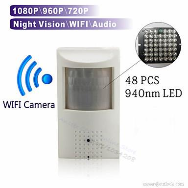 Wifi Micro Sd Card Slot 720P 960P 1080P Pir Style Onvif Wired And Wireless  Ip Camera With