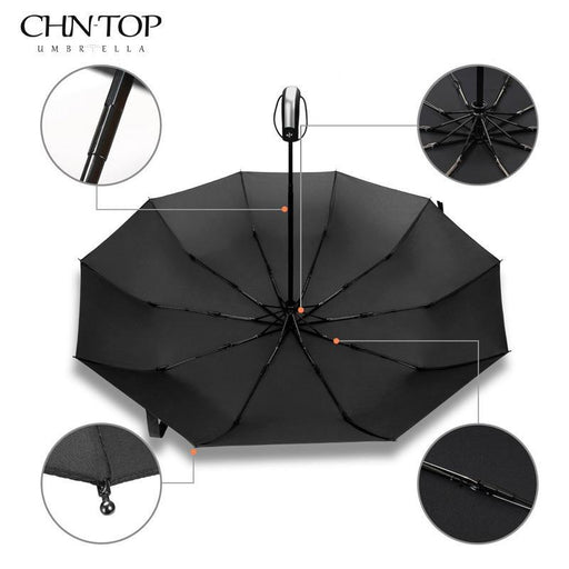 Wind Resistant Folding Automatic Umbrella Male Auto Luxury Big Windproof Umbrellas For Men Rain-Household Merchandises-Aliwish Store-Blue-EpicWorldStore.com