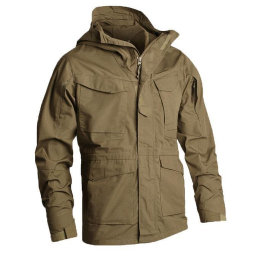 Windbreaker Mens Jacket Climbing Tactical Clothing Uk M65 Fall Winter Flight Pilot Hooded Coat Field-Hiking Jackets-Aapplesport Store-1-S-EpicWorldStore.com