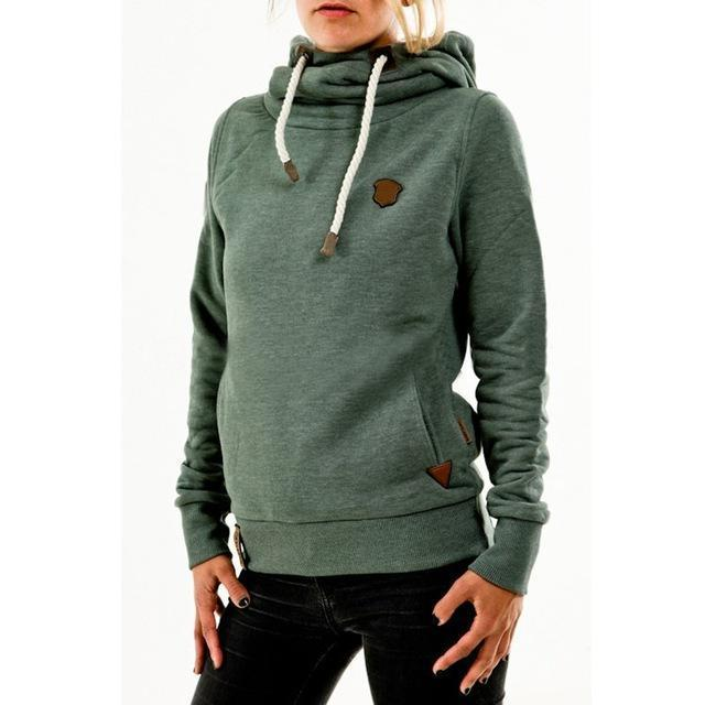 Winter Autumn Women Hoodies Female Warm Hooded Sweatshirt Long Sleeve Pockets Casual Loose-Hoodies & Sweatshirts-Brisky Store-Green-S-EpicWorldStore.com