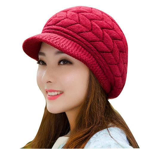 Winter Beanies Knit Womens Hat Winter Hats For Women Ladies Beanie Girls Skullies Caps Bonnet Femme-Accessories-AETRUE Official Store-red-EpicWorldStore.com