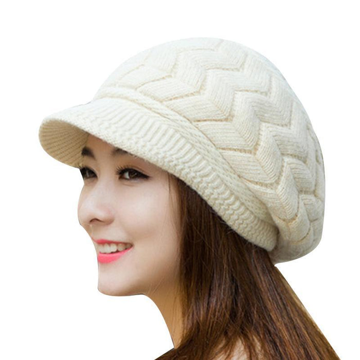 Winter Beanies Knit Womens Hat Winter Hats For Women Ladies Beanie Girls Skullies Caps Bonnet Femme-Accessories-AETRUE Official Store-white-EpicWorldStore.com