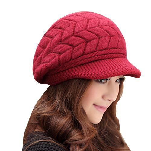 Winter Beanies Knit Womens Hat Winter Hats For Women Ladies Beanie Girls Skullies Caps Bonnet Femme-Accessories-AETRUE Official Store-wine red-EpicWorldStore.com