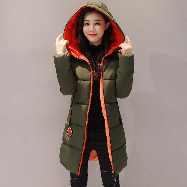 Winter Jacket Women Thick Long Women Parkas Hooded Female Outwear Coat Down Cotton Padded-Jackets & Coats-MANDADI Store-Army Green-S-EpicWorldStore.com