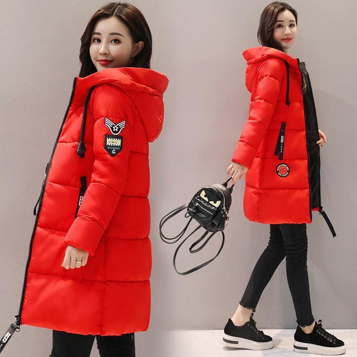 Winter Jacket Women Thick Long Women Parkas Hooded Female Outwear Coat Down Cotton Padded-Jackets & Coats-MANDADI Store-Black-S-EpicWorldStore.com