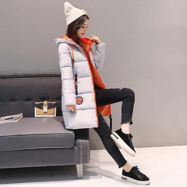 Winter Jacket Women Thick Long Women Parkas Hooded Female Outwear Coat Down Cotton Padded-Jackets & Coats-MANDADI Store-Gray-S-EpicWorldStore.com