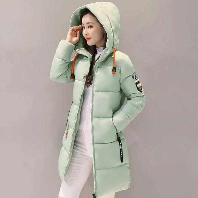 Winter Jacket Women Thick Long Women Parkas Hooded Female Outwear Coat Down Cotton Padded-Jackets & Coats-MANDADI Store-Light Green-S-EpicWorldStore.com