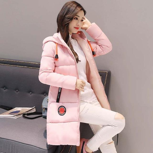 Winter Jacket Women Thick Long Women Parkas Hooded Female Outwear Coat Down Cotton Padded-Jackets & Coats-MANDADI Store-Pink-S-EpicWorldStore.com