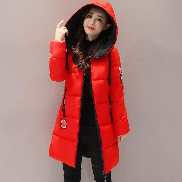 Winter Jacket Women Thick Long Women Parkas Hooded Female Outwear Coat Down Cotton Padded-Jackets & Coats-MANDADI Store-Red-S-EpicWorldStore.com