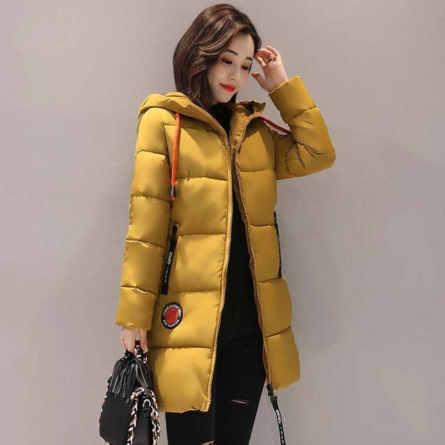 Winter Jacket Women Thick Long Women Parkas Hooded Female Outwear Coat Down Cotton Padded-Jackets & Coats-MANDADI Store-Yellow-S-EpicWorldStore.com