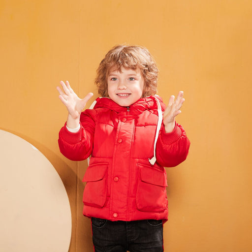 Winter Jackets Warm Jackets Kids Cotton Hooded Outwear Jacket Children-Down & Parkas-Smgslib Firstkids Store-black-6M-EpicWorldStore.com