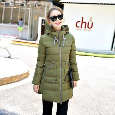 Winter Long Down Jacket Top Quality Pakas Women Long Sleeve Hooded Parka Winter Plus Size-Jackets & Coats-Sweethearts Store-army green-XL-EpicWorldStore.com